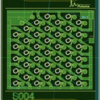 Layout of a 40 microresonator TTD device.